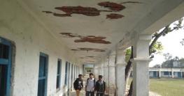 সাতবাড়ীয়া উচ্চ বিদ্যালয়ে পরিত্যক্ত ভবনে পাঠদান