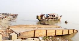 নাজিরগঞ্জ-ধাওয়াপাড়া রুটে ২ মাস ফেরি চলাচল বন্ধ, জনদুর্ভোগ চরমে