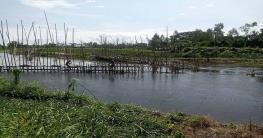 বেড়ার কাগেশ্বরী নদীতে অবৈধ সুতিজাল উচ্ছেদ