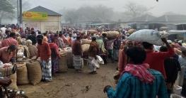 পাবনায় সস্তায় শাক-সবজি, পেঁয়াজের বাজার অস্থির