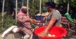 চাটমোহরে এক হাজার মানুষকে সাবান দিলেন কেন্দ্রিয় ছাত্রলীগ নেতা